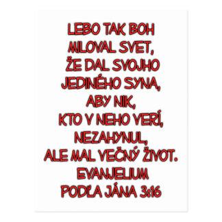 John 3:16 Slovak Post Cards