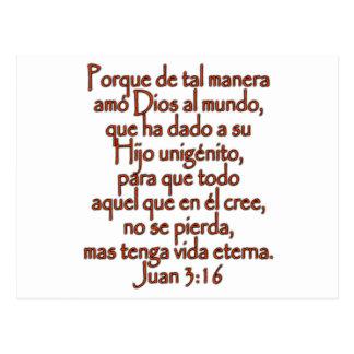John 3:16 Spanish Postcard