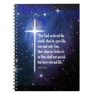 John 3:16 spiral notebook