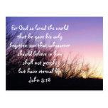 John 3:16 Sunset Postcard