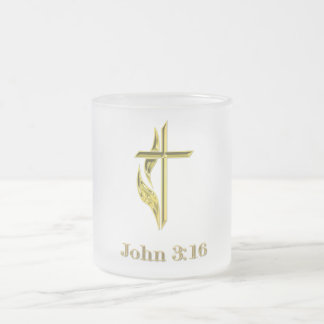John 3:16 t-shirts and more frosted glass coffee mug