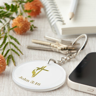John 3:16 t-shirts and more keychain
