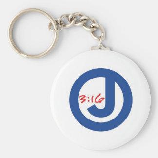 John 3:16 (Unique Logo) Keychain