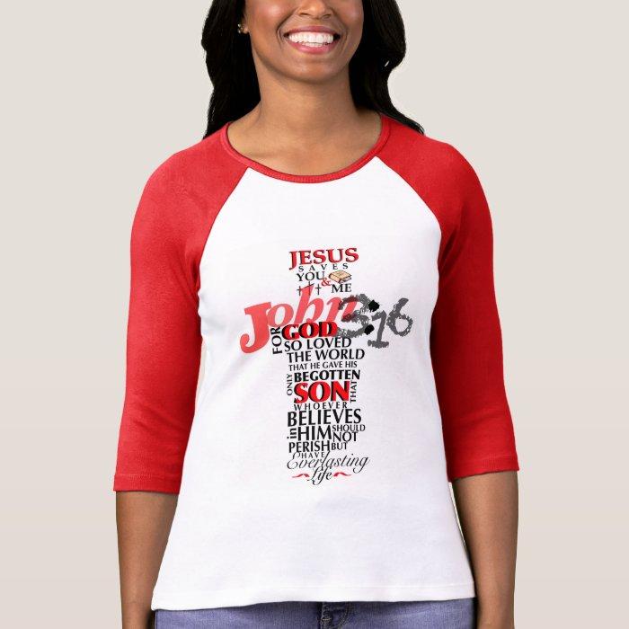 John 3 16 Verse T Shirt Zazzle