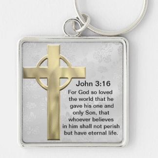 John 3:16 (white) keychain