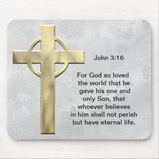 John 3:16 (white) mouse pad
