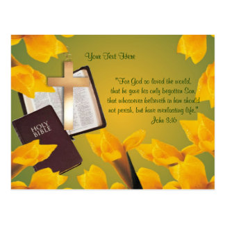 John 3:16 - Wishes for Blessed & Wonderful Easter Postcard