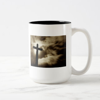 John 3:16 With Cross Two Tone Coffee Mug