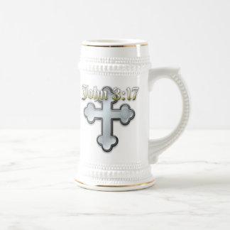John 3:17 beer stein
