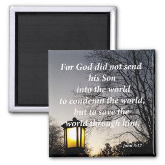 John 3:17 magnet