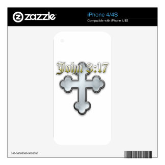 John 3:17 skins for the iPhone 4