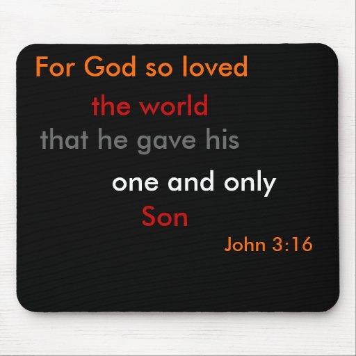 John 3:18 Mousepad