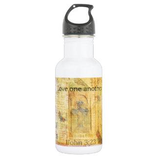 John 3:23 Bible verse about LOVE Stainless Steel Water Bottle