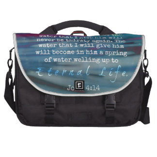 John 4:14 Water and Sky Commuter Bags