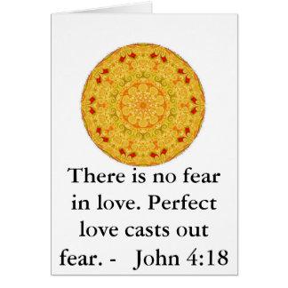 John 4:18 - Inspiring BIBLICAL QUOTE Card