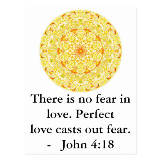 John 4:18 - Inspiring BIBLICAL QUOTE Post Card