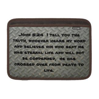 John 5:24 Diamond Plated MacBook 11Inch  Sleeves Sleeves For MacBook Air