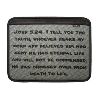 "John 5:24 Diamond Plated MacBook Air 13"" Sleeve MacBook Air Sleeve"