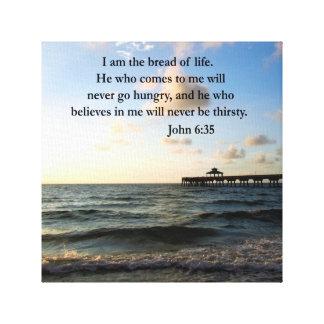 JOHN 6:35 OCEAN PHOTO CANVAS PRINT