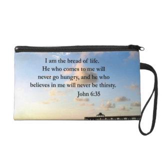 JOHN 6:35 OCEAN PHOTO WRISTLET PURSE