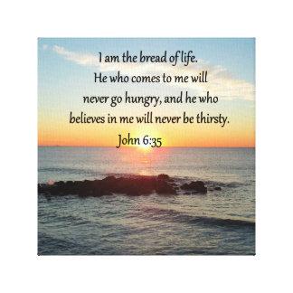 JOHN 6:35 SUNRISE PHOTO DESIGN CANVAS PRINT