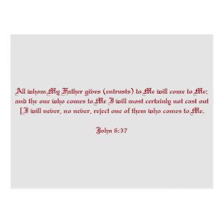 John 6:37 postcard