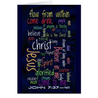 John 7:37-41 Dark Water Cards