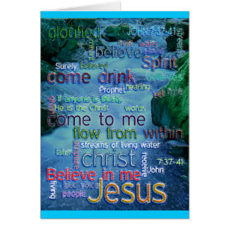 John 7:37-41 Rushing Stream Greeting Card