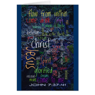 John 7:37-41 Waterfall Cards