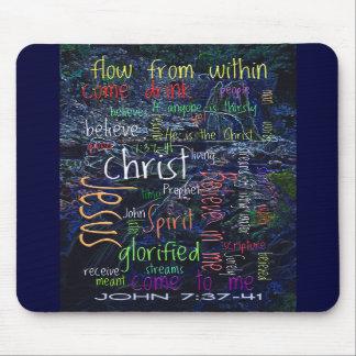 John 7:37-41 Waterfall Mouse Mat