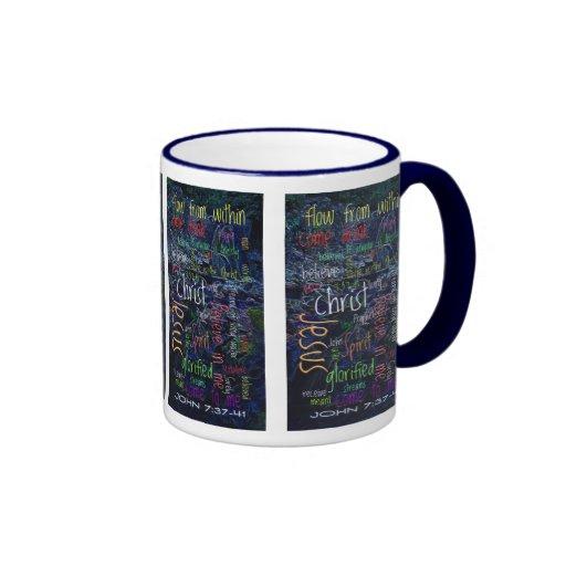 John 7:37-41 Waterfall... Ringer Coffee Mug