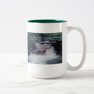 John 7:38 Bible quote mug
