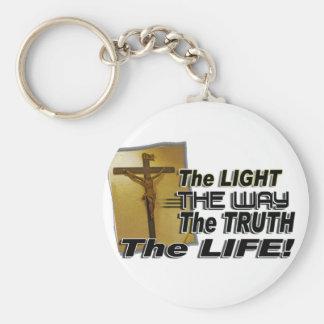 JOHN 8:12 & 14:16 THE LIGHT,  WAY,  TRUTH, & LIFE KEYCHAIN