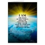 John 8:12 greeting card