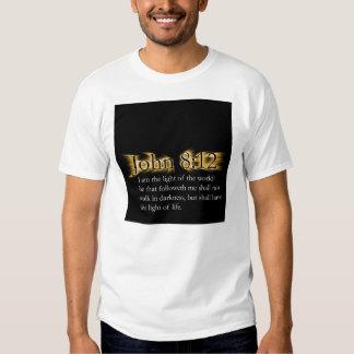 John 8:12 - Let Your Light Shine For Jesus T-Shirt