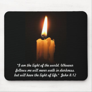John 8:12 Quotation Mouse Pad