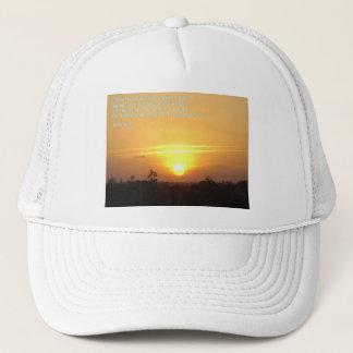 John 8:12  Sunset Trucker Hat