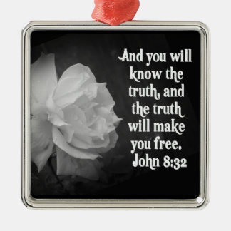 JOHN 8:32 CHRISTMAS ORNAMENT - TRUTH MAKE YOU FREE
