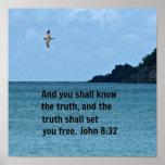 John 8:32 poster