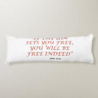 John 8 36 Bible verse scripture of faith 1029.02 Body Pillow