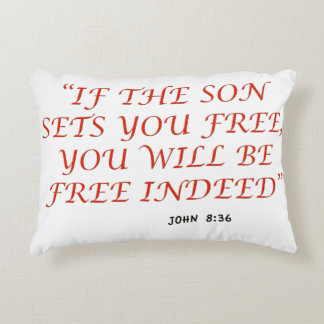 John 8 36 Bible verse scripture of faith 1029.02 Decorative Pillow