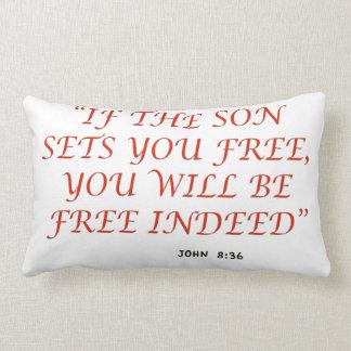 John 8 36 Bible verse scripture of faith 1029.02 Pillow