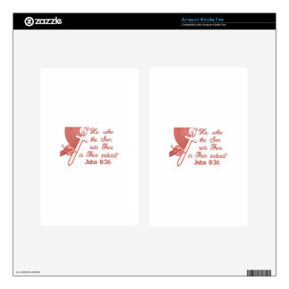 John 8:36 decal for kindle fire