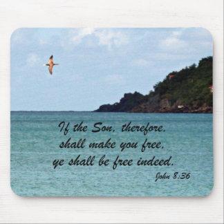John 8:36 mouse pad