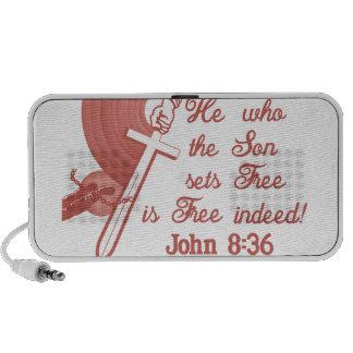 John 8:36 portable speaker