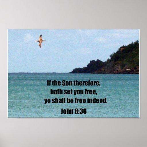 John 8:36 poster