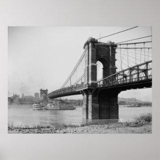 John A. Roebling Suspension Bridge Poster