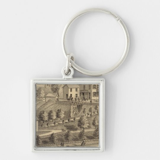 John A Wood and Son, coal harbor and tow boats Keychain