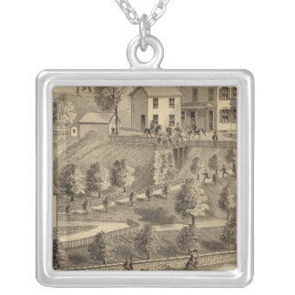 John A Wood and Son, coal harbor and tow boats Silver Plated Necklace