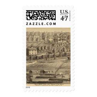 John A Wood and Son, coal harbor and tow boats Stamp